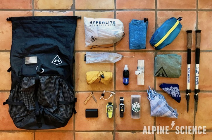Ultralight Backpacking Thru-Hiking Gear List