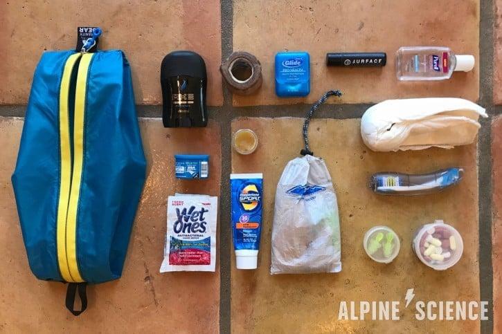Thru-Hiking Toiletries, Repair and First Aid Kit