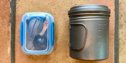 Ultralight Backpacking Cook Kit and Keto Backpacking Food Pre Kit