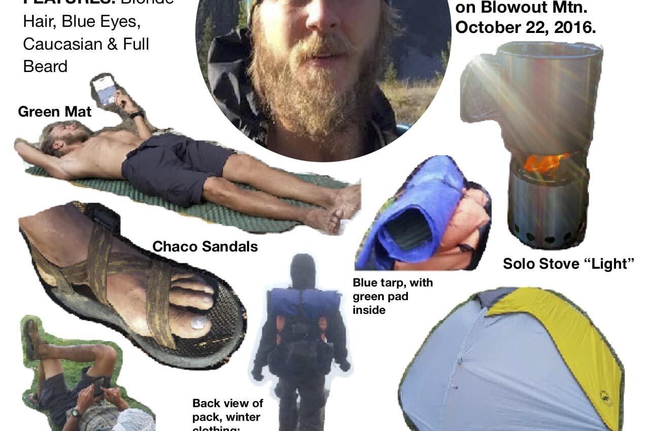 Kris Fowler Missing PCT Hiker Flyer