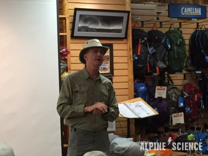 Glen Van Peski of Gossamer Gear at Adventure 16
