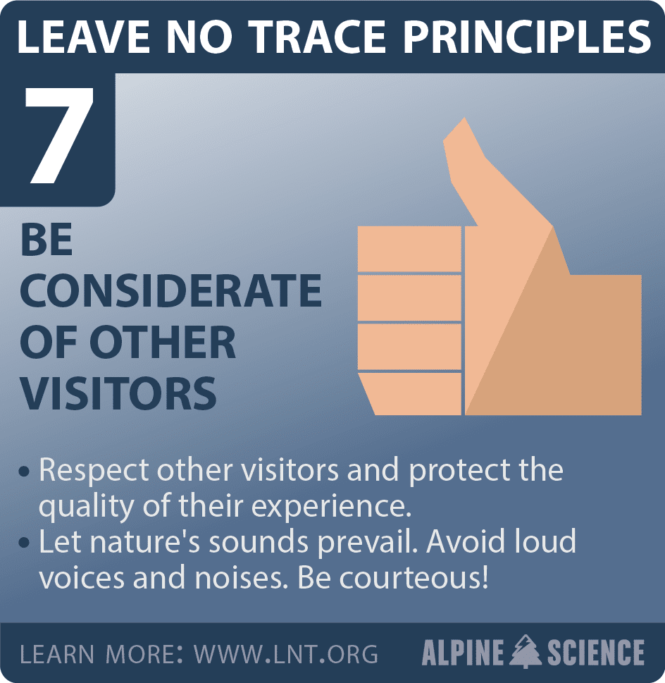 Leave No Trace Seven Principles
