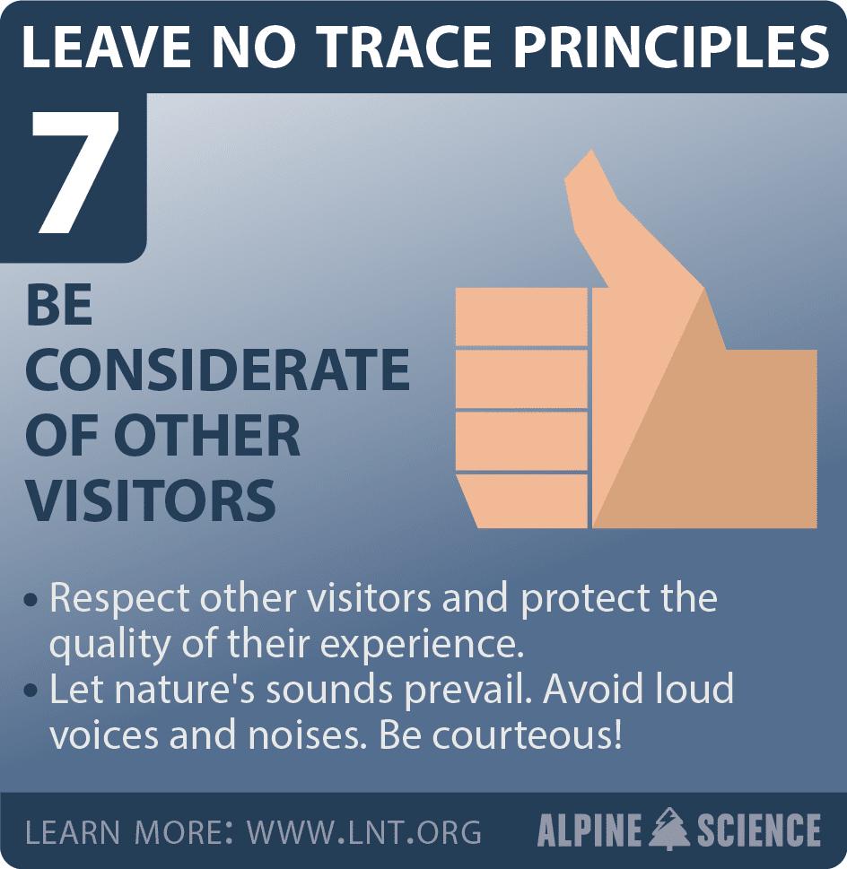 Leave No Trace Seven Principles