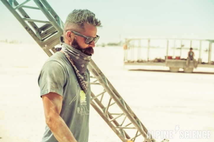 Trace Richardson at Burning Man
