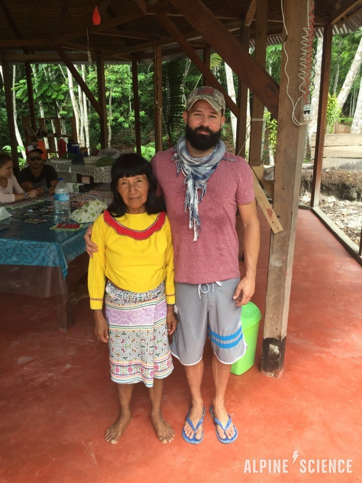 Trace Richardson with Ayahuasca Shaman in Peru