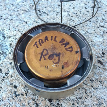 Backpacking Alcohol Stove by Trail Dad Roy