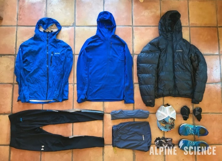 Ultralight Backpacking Clothing and Gear List