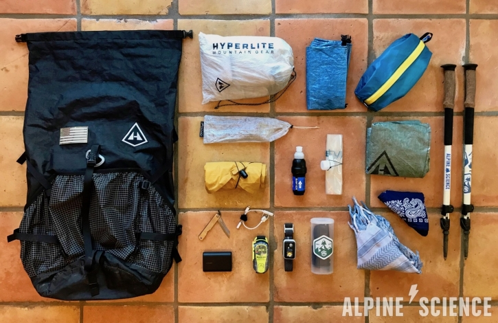 Ultralight Backpacking Gear LIst for Thru Hiking and Long Distance Hiking